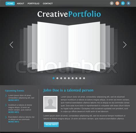 Design Portfolio Vorlage Web Design Portfolio Vorlage Vektorgrafik Colourbox