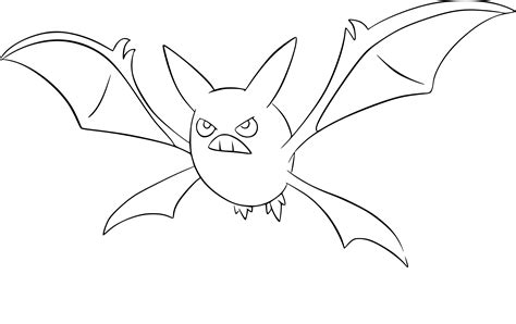 pokemon zubat coloring pages pokemon crobat coloring page