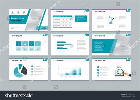 page layout elements page layout design presentation brochure book stock vector