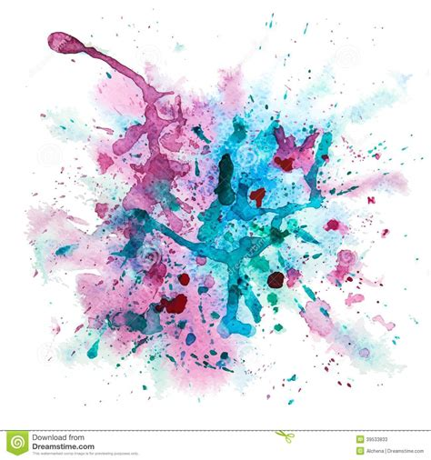 multicolor watercolor splash stock vector image 39533833