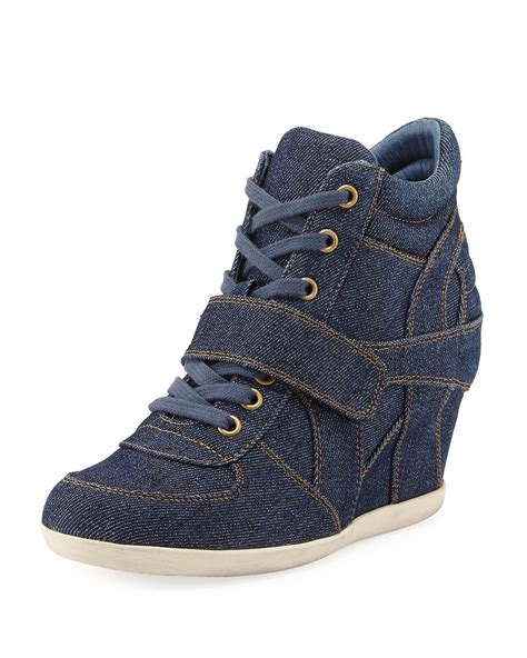 Sneakers Denim lyst ash bowie denim wedge sneaker in blue