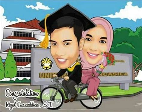 Undangan Minimalis Karikatur karikatur pernikahan jasa buat desain karikatur pernikahan ratu undangan souvenir hp