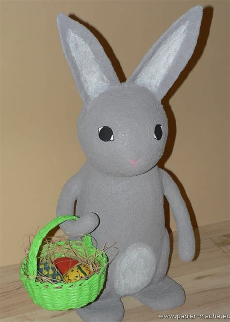 How To Make Paper Mache Ls - paper mache bunnies
