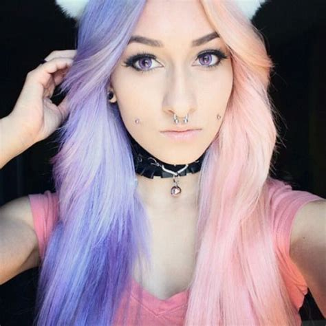 half colored hair best 25 half dyed hair ideas on cotton