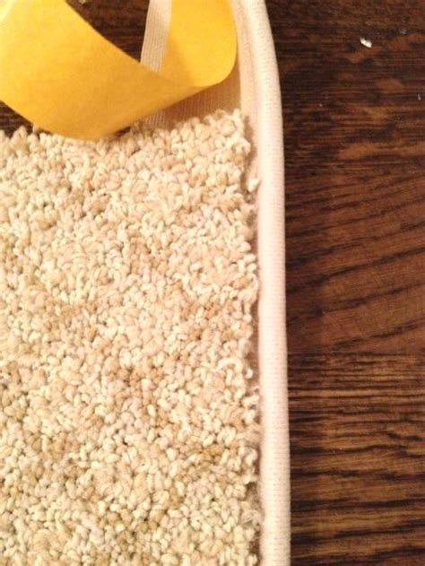 how to bind a rug make remnant into rug with binding staging