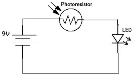 how to build a simple photoresistor circuit