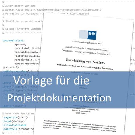 Word Vorlage Projektdokumentation Vorlage F 252 R Die Projektdokumentation Fachinformatiker Anwendungsentwicklung