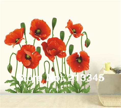 popular items for red poppy home decor on etsy fundecor fashion new products red poppies flower decal