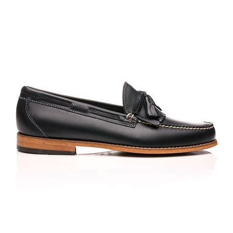 navy leather loafers weejuns layton pull up kiltie loafers navy leather