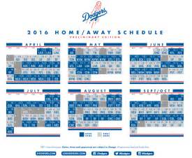 dodgers home schedule 2016 dodger schedule everything you need to 171 dodger
