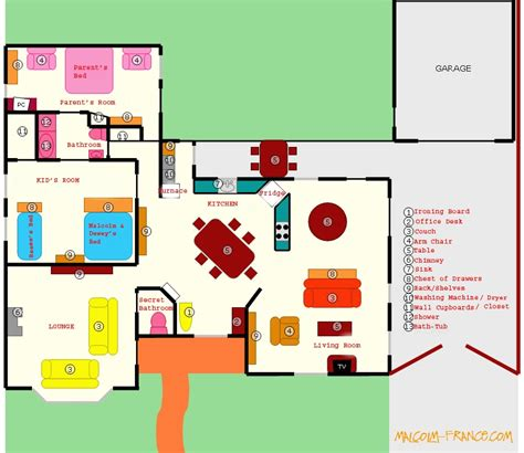 layout of the middle house the wilkerson house floor plan malcolm in the middle vc