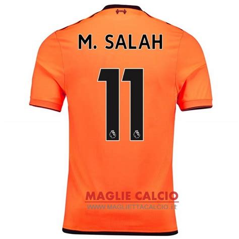 M Salah Liverpool 2017 2018 Home Away Third Style Nameset nuova maglietta liverpool 2017 2018 m salah 11 terzanuova
