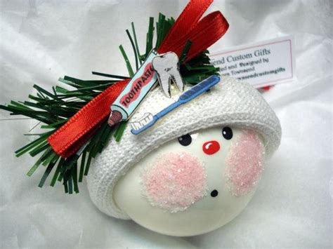 dental christmas ornaments dentist tooth paste brush hand