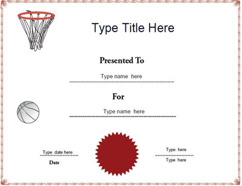 netball certificate template sports certificates netball achievement award