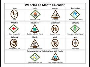 cub scout calendar template new cub scouts 12 month calendar we created for our lds
