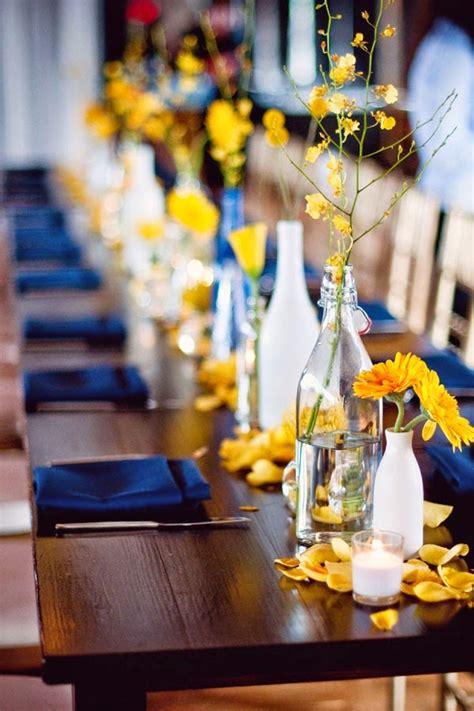 confetti blog yellow  blue wedding ideas