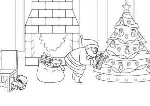 dibujos de navidad pap noel gracioso para colorear pap 225 noel y el 225 rbol de navidad dibujo para colorear e