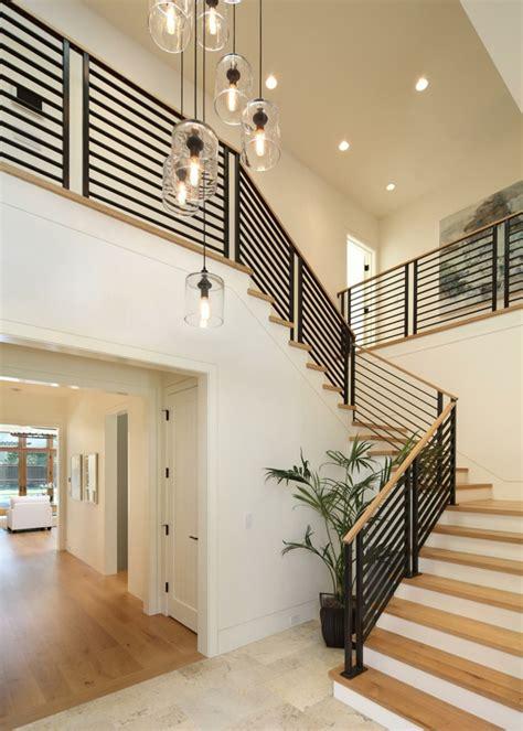 Replacing Banisters Escalier Int 233 Rieur Quelques Id 233 Es D 233 Clairage Moderne