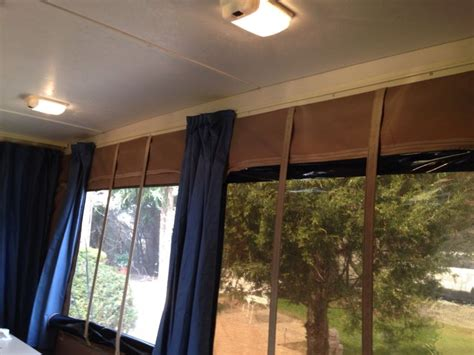 tent trailer curtains i removed the old ugly valances it looks so much better