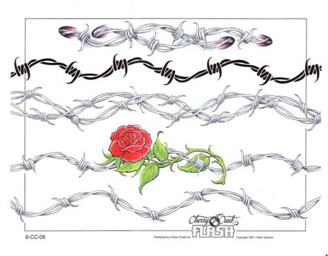 rose bracelet tattoos anklet bracelet barbwire creative