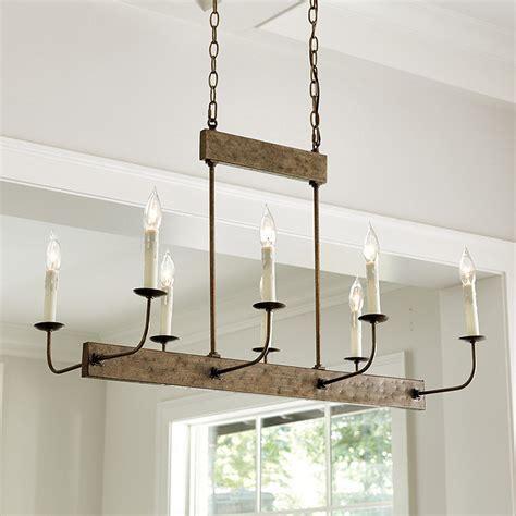linear chandelier linear 8 light chandelier ballard designs