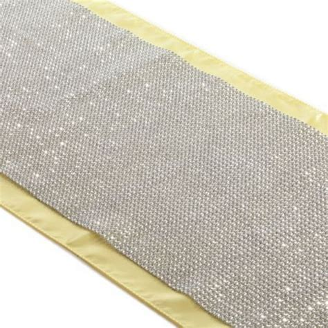 rhinestone table runner silver 15 ft 403081