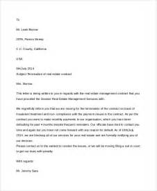 Letter Format For Contract Termination Sle Contract Termination Letter 5 Documents In Word
