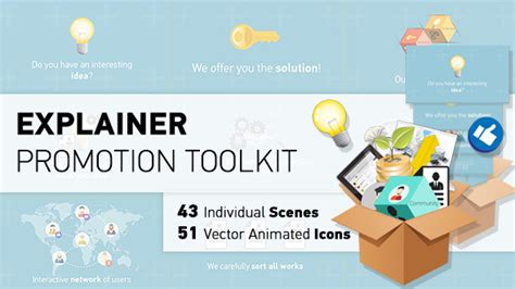 Explainer Promotion Toolkit After Effects Template Videohive 9220120 Ae Templates Videohive Explainer Templates After Effects