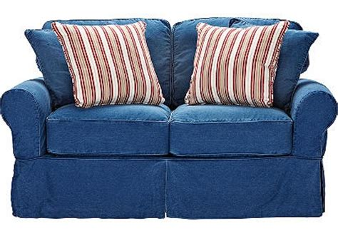 cindy crawford home beachside blue denim sofa pin by christina wood on dylan michael pinterest