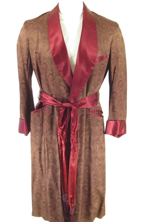 vintage 50s atomic robe mens s burgundy usa