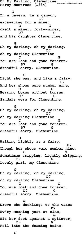 clementine lyrics clementine lyrics 28 images johnny song clementine