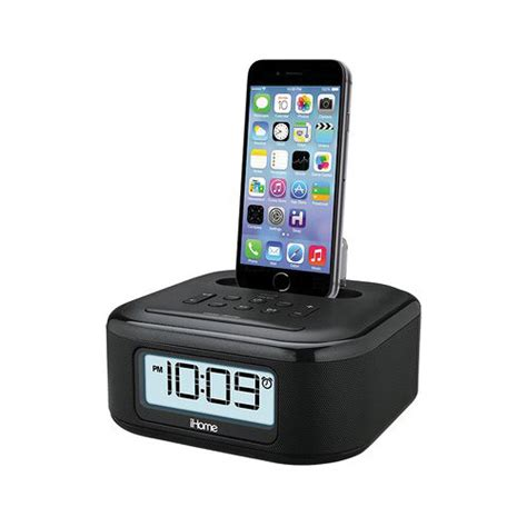 i home ihome ipl23 stereo fm clock radio with lighting dock