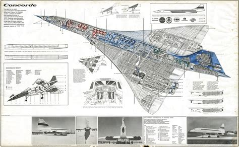 section plane engineering drawing concorde technical drawing by theo page concorde