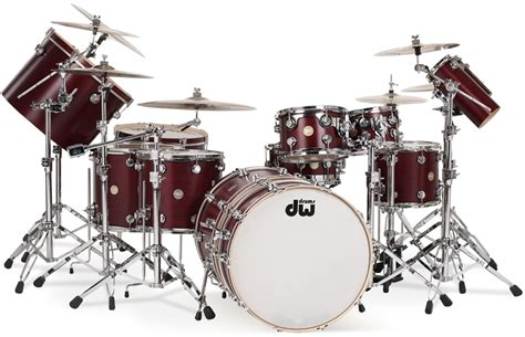 imagenes baterias musicales dw collector s series satin cherry over maple with chrome