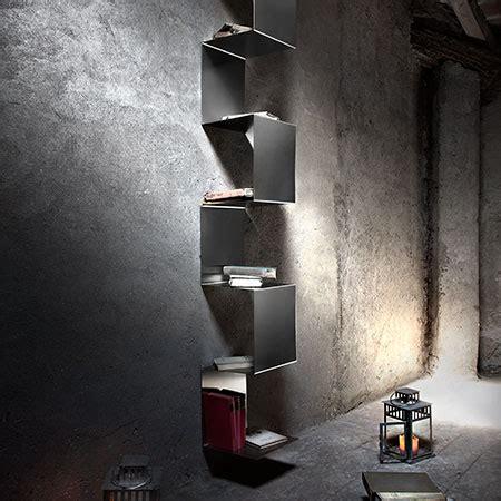 librerie in acciaio libreria in acciaio inox design minimale libreria