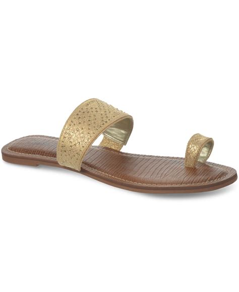 sandals with toe ring carlos by carlos santana fairview toe ring flat sandals in