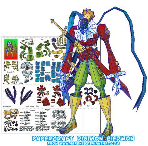Digimon Papercraft - ninjatoes papercraft weblog papercraft digimon piedmon