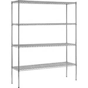 edsal 4 shelf chrome wire shelving unit 60in w x 18in d