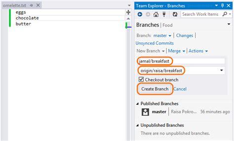 git tutorial visual studio 2015 git visual studio 2015 how to merge a branch into master