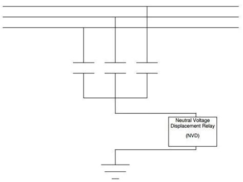 capacitor bank connected in delta can i use neutral voltage displacement relay i e vdg 14 af 9001a m for delta connected high