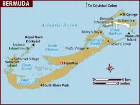 bermuda on a map map of bermuda