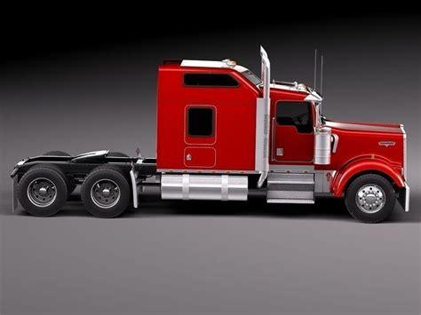 kenworth w900 sleeper cab 2014 3d model max obj 3ds fbx