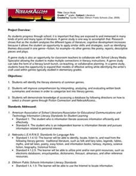 lesson plan on biography genre genre study 2nd grade lesson plan lesson planet