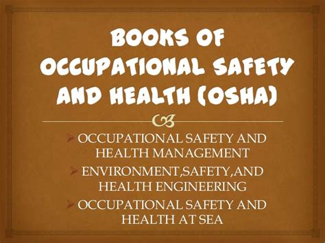 prevention and osha compliance books books of occupational safety and health osha