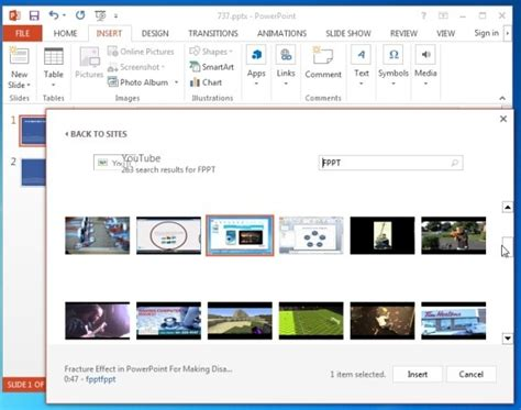 how to insert a video in powerpoint 2013 powerpoint