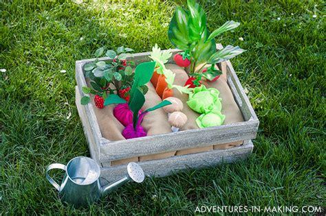Diy Plantable Felt Vegetable Garden Part 2 Felt Vegetable Garden