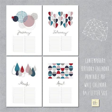 calendar design book pdf perpetual birthday calendar diy printable pdf instant