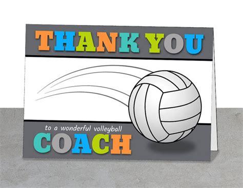 printable volleyball thank you cards printable volleyball coach thank you card team thank you