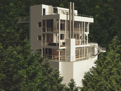 richard meier house douglas house by richard meier 3d rhino render by gilbert