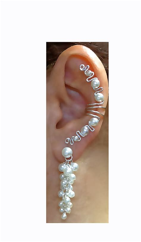 how to make ear wrap jewelry unique bridal earringsearlums